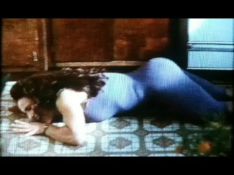 Woman has orgasm on the kitchen floor