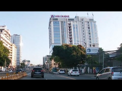 Yangon City Drive Pyay Road From Inya Road To Ahlone Street