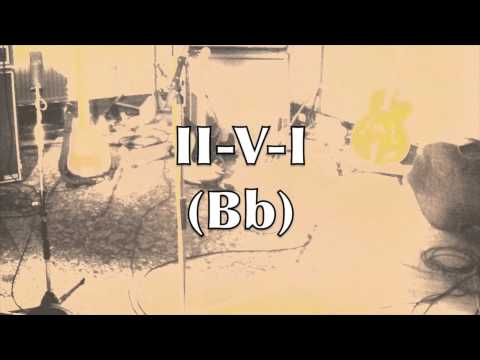 2-5-1 Medium Swing Jazz Backing Track (Bb Major)