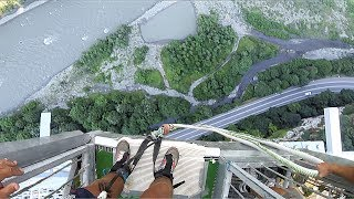 CRAZIEST THING I'VE EVER DONE!! (800K INSANE BUNGEE JUMP)