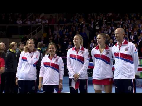The opening ceremony at the 2016 Fed Cup Final