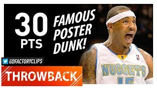 Throwback: Carmelo Anthony Full Highlights vs Jazz (2009.10.28) - 30 Pts, CRAZY POSTER DUNK!