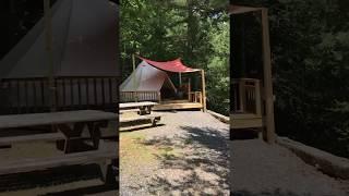 Pinky's Charm Glamping Tent Creek Ridge Camping NC