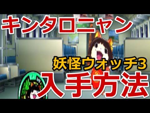 妖怪ウォッチ3 キンタロニャン入手方法出現場所 Youtube