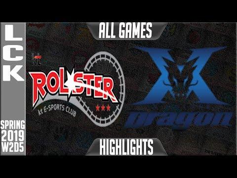 KT vs KZ Highlights ALL GAMES | LCK Spring 2019 Week 2 Day 1 KT Rolster vs King-Zone DragonX