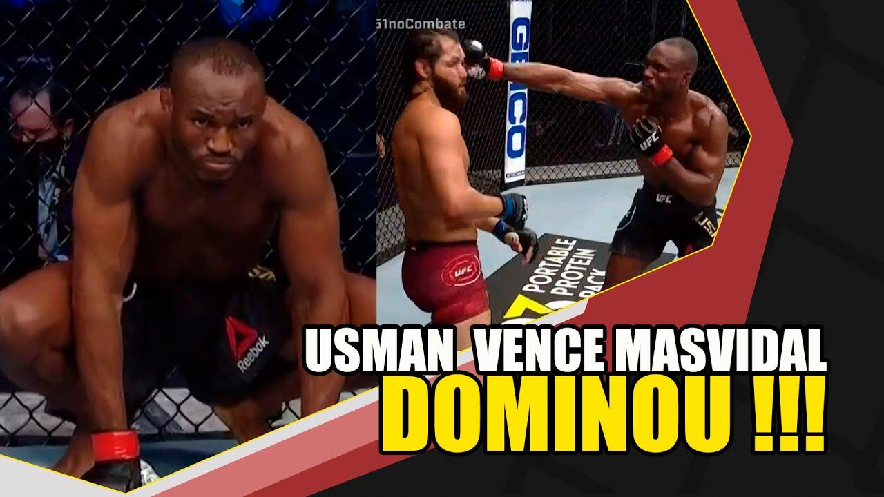 Kamaru Usman dominou Jorge Masvidal ( RESULTADOS UFC 251)