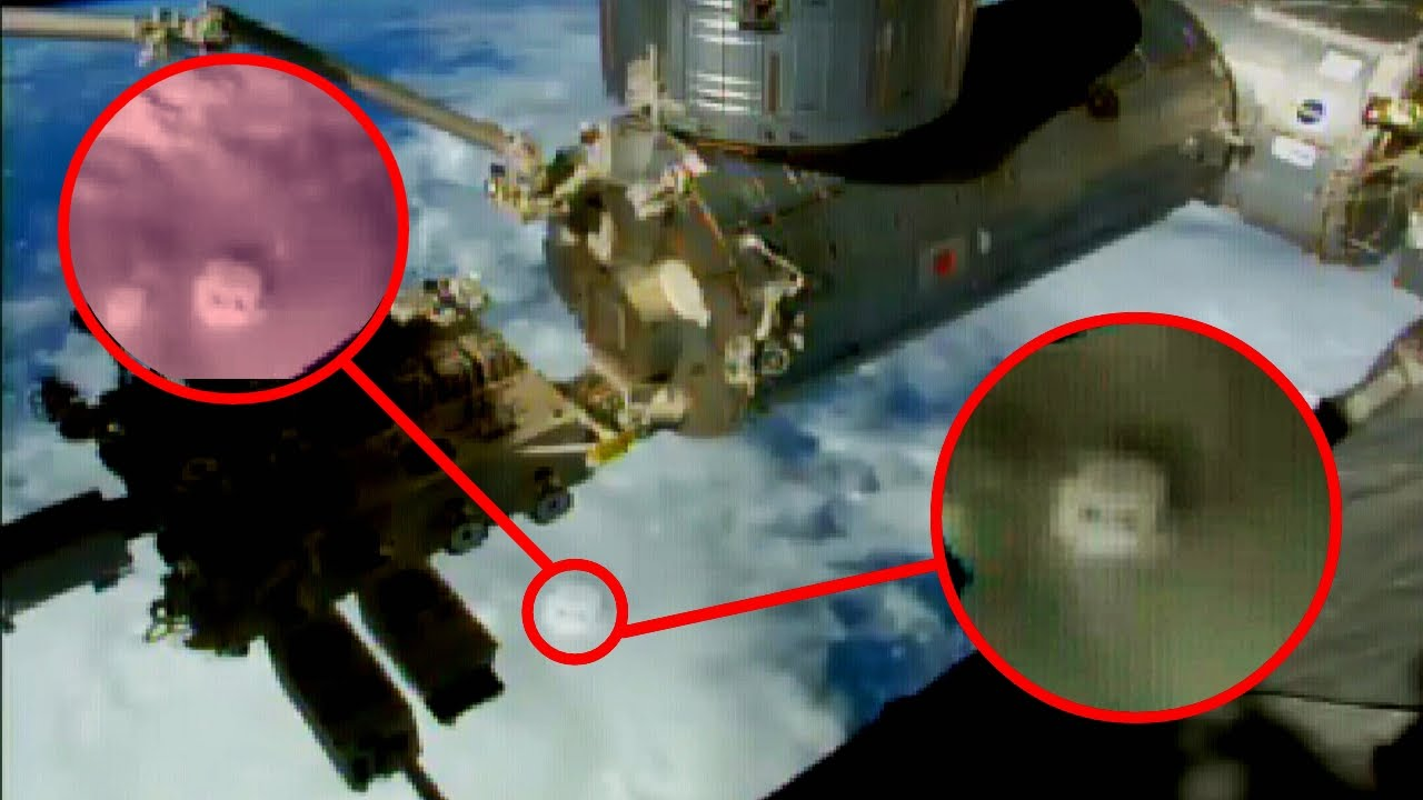 Cube UFO 2 sightings NASA tv cuts ISS Space Station live ...