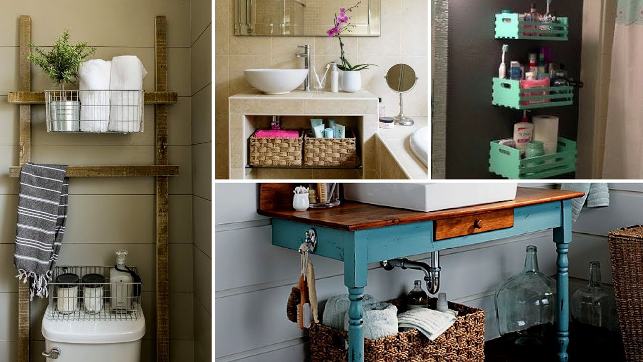 Easy Bathroom Decorating Ideas: DIY Small Bathroom Organization And Storage Ideas 2017