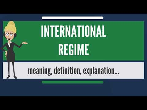 What is INTERNATIONAL REGIME? What does INTERNATIONAL REGIME
