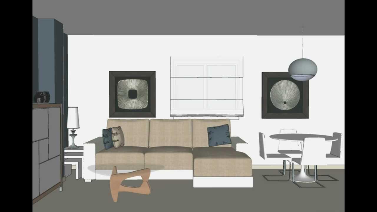 Proyecto de interiorismo en torrevieja opci n i reforma for Comedor 30 metros cuadrados