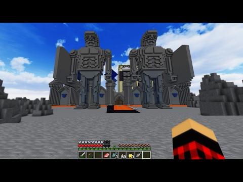 ماين كرافت : ماب امبراطوريه السماء( الجزء الثالث ) حراس القلعه العمالقه !