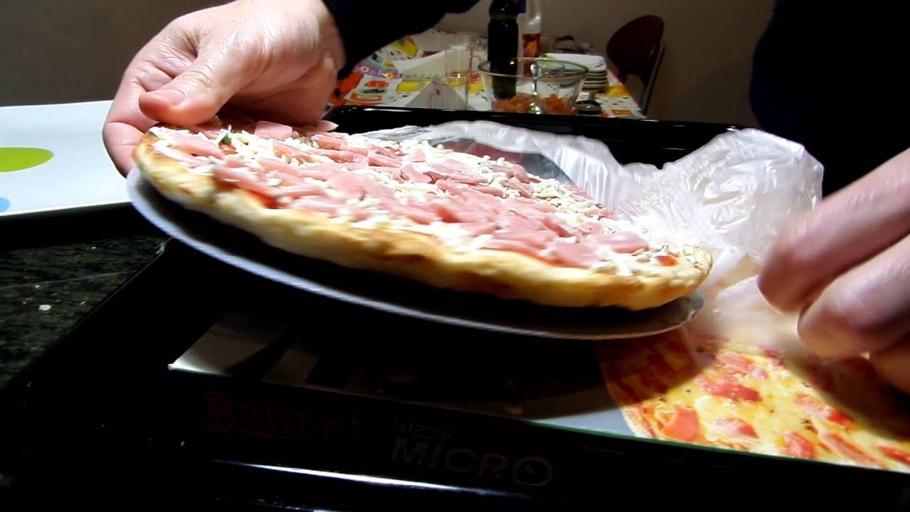 Unboxing review pizza micro buitoni proscciutto for Platos de pizza