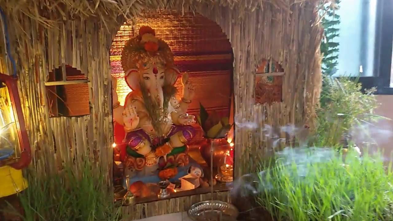 Ganpati Hut Decoration Youtube