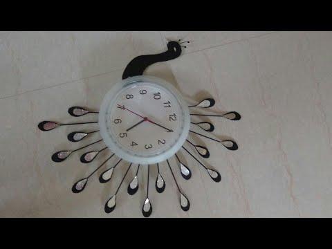 DIY - Peacock wall clock decor