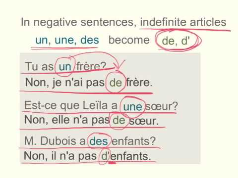 Indefinite articles in negative sentences - YouTube