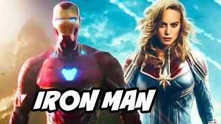 Captain Marvel Iron Man Avengers Scene Easter Egg Explained
