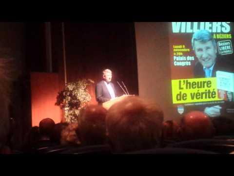 Philippe de Villiers à Béziers 1ère partie !