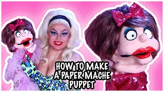HOW TO MAKE A PAPER MACHE PUPPET | JAYMES MANSFIELD