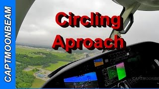 cessna citation m2 landing and circling approach at the wiley post airport