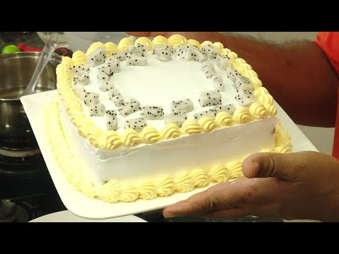 Basic Cake With Whip Topping - Easy Cake Making