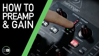 Behringer X32 - Basic Mixing 101-2 - Preamp & Gain