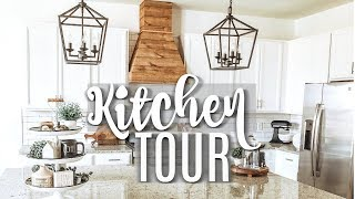 MODERN FARMHOUSE KITCHEN TOUR 2019 // DIY RAE DUNN DISPLAY