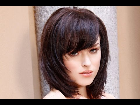 shoulder length hair with bangs styles 30 shoulder length hairstyles with bangs and layers 6364 | hqdefault