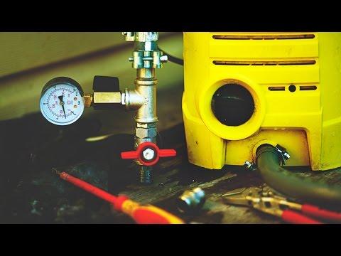 Испытание инженерных систем давлением. Karcher