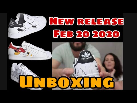 RELEASED TODAY! NEW DROP! UNBOXING Adidas X Disney Mickey Mouse Stan Smith