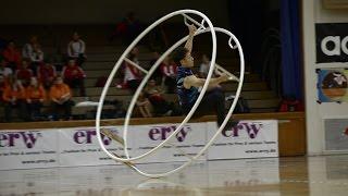 10th Wheel Gymnastics World Championships in Chicago 2013 Yasuhiko Takahashi in World champion in spiral 10. Rhönrad Weltmeisterschaft in Chicago ...