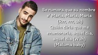 GIMS, Maluma - Hola señorita (María) (Letra/ Lyrics)