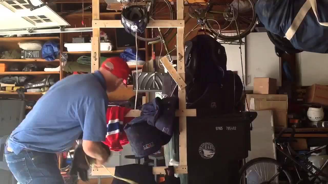 Garage Hockey Equipment Drying Rack