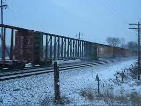 Norfolk Southern Trains Dashing Through The Snow