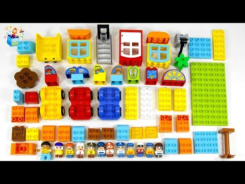 Learning Color Disney Cars Lightning McQueen and Vehicle lego bricks play funny video for kids