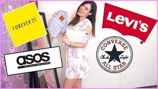 TUTTO IL MIO SHOPPING 🛍 LEVI'S Converse FOREVER 21 Asos  👗VESTITI INDOSSATI