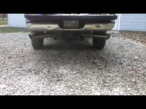 1999 Dodge 2500 Cummins 24v Dual 4 inch Diamond Eye Exhaust