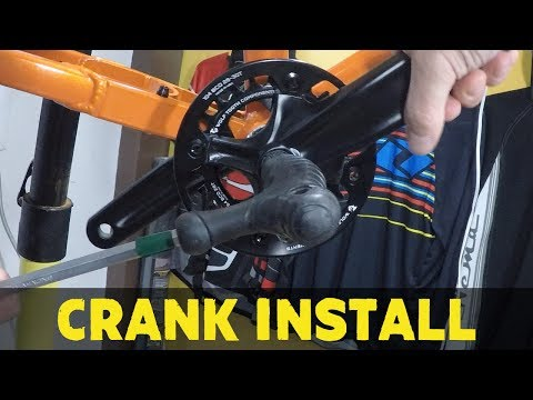 How to install crankset bashguard and chainring | Part 4 How to build a MTB