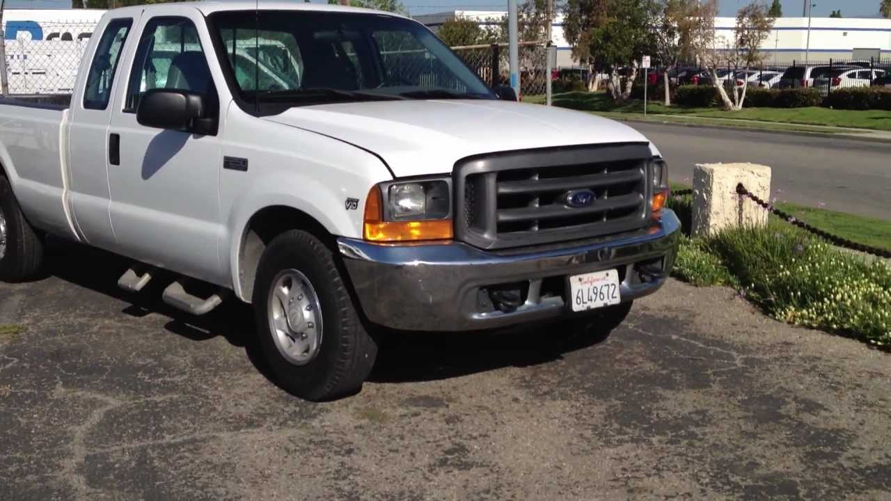 Stock 911 2001 ford f250 xl extended cab long bed pickup truck 143k miles for sale