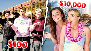 $100 VACATION vs. $10,000 VACATION!