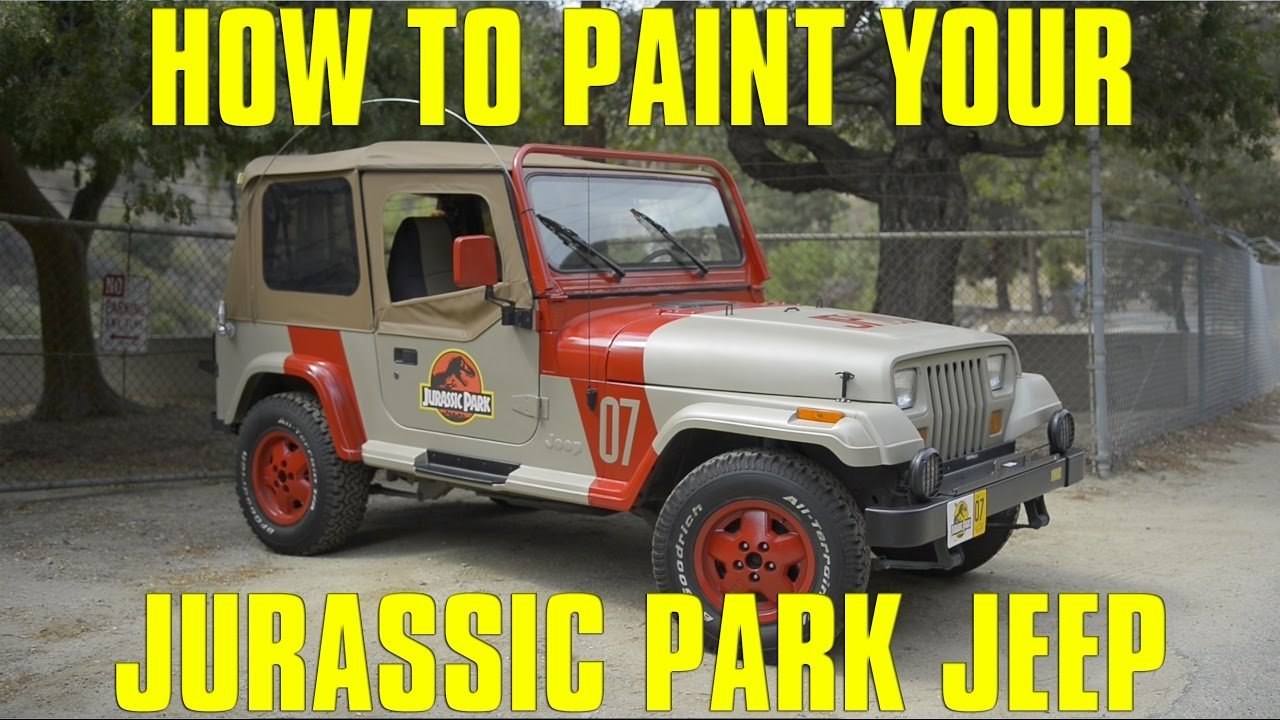 how to make a jurassic park jeep - youtube