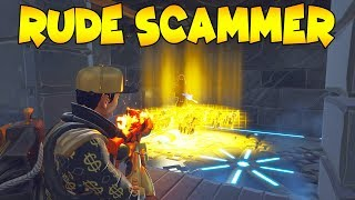 Rude Scammer Breaks His Mic Over Guns! (Scammer Gets Scammed) Fortnite Save The World