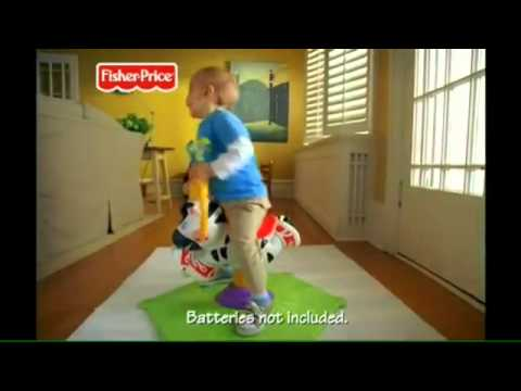 Smyths Toys   Fisher Price Bounce And Spin Zebra