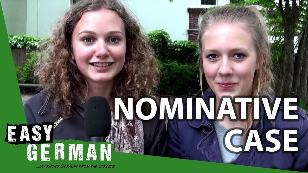 Easy German Cases - Nominativ (Super SLOMO with Pia and Lisa ...