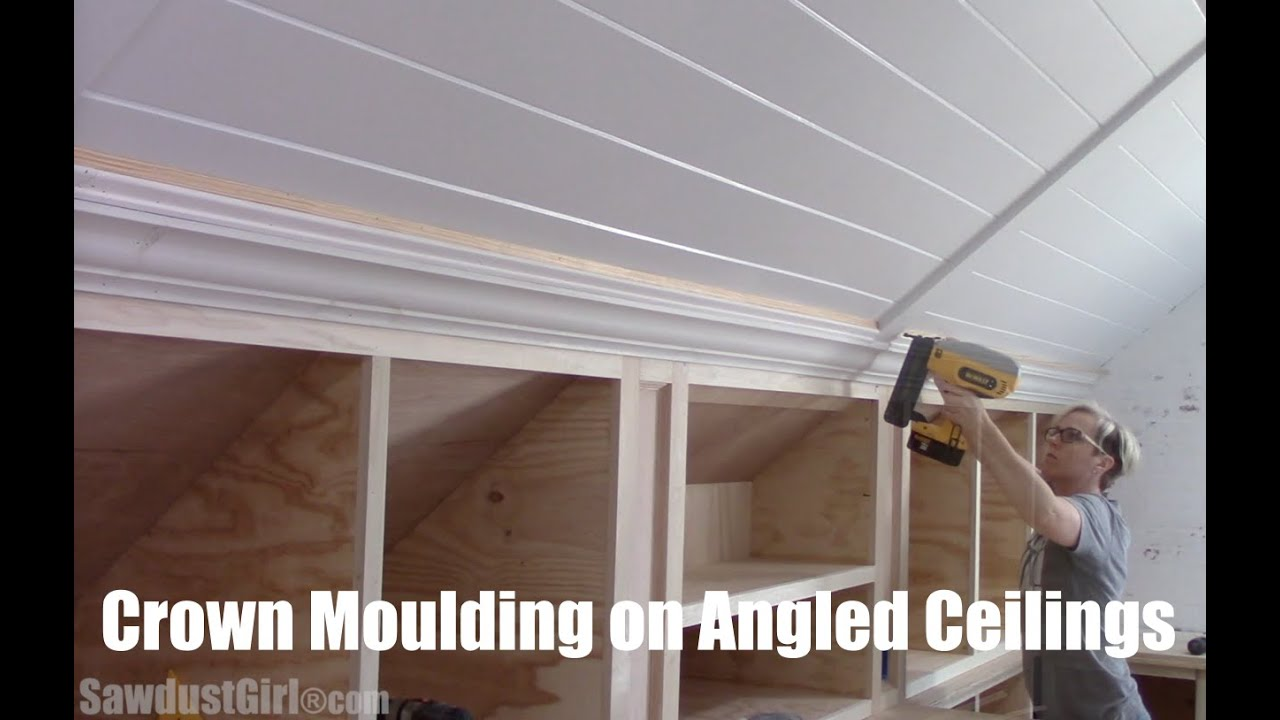 Crown Moulding on Angled Ceilings - YouTube