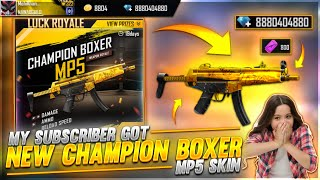I GOT NEW MP5 SKIN😯, STREET BOY BUNDLE AND MANY ITEMS IN SUSBCRIBER ACCOUNT - GARENA FREE FIRE