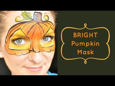 Bright Pumpkin Face Painting Tutorial
