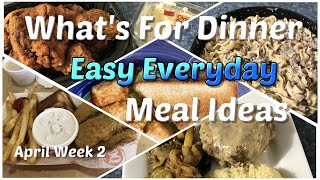 Beth's What's For Dinner 🍜🌶 Easy Affordable Everyday Dinner Ideas 🍳🔪April WK 2