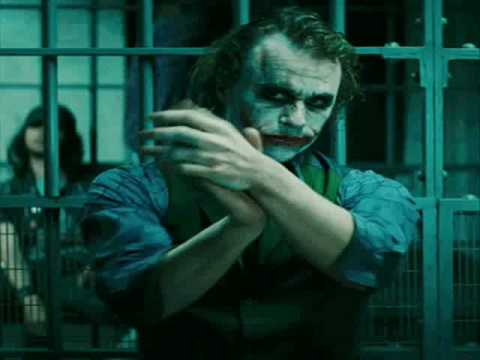 Dark Knight Deleted Scene - Extended Joker Clapping Sequence