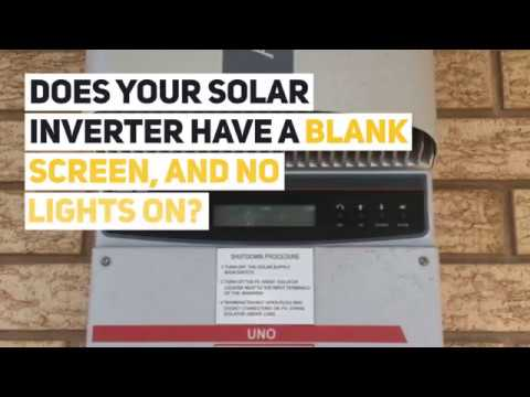 Does Your Solar Inverter Have A Blank Screen, And No Lights On?
