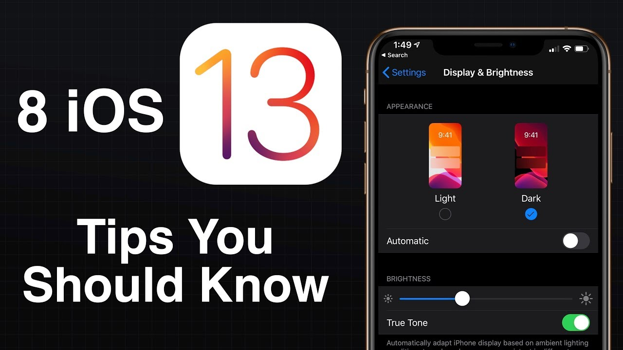 Eight iOS 13 Tips to Get You Started - MacRumors